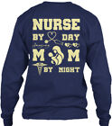 Nurse By Day Mom - Night Gildan Long Sleeve Tee T-Shirt