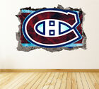 Montreal Canadiens Wall Art Decal Hockey Team 3D Smashed Wall Decor WL11 $36.95 USD on eBay