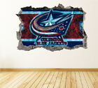Columbus Blue Jackets Wall Art Decal Hockey Team 3D Smashed Wall Decor WL19 $36.95 USD on eBay