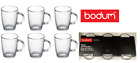 Bodum 12oz / 0.35L Glass Mugs {Packed in 6's} Ideal Present Cafe/Canteen/Bistro