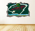 Minnesota Wild Wall Art Decal Hockey Team 3D Smashed Wall Decor WL29 $24.95 USD on eBay