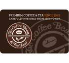 The Coffee Bean & Tea Leaf Gift Card - $25 $50 $100 - Email delivery