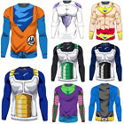 Mens Long Sleeve T Shirt Dragon Ball Z DBZ Compression Sports Muscle Casual Tops $10.92 USD on eBay