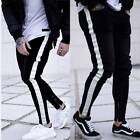 Mens Gym Slim Fit Trousers Tracksuit Bottoms Skinny Jogger Sweat Track Pants NEW