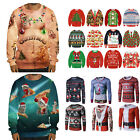 Women Men Christmas Tops Ugly Sweater Xmas Jumper Sweatshirt Pullover Hoodies US