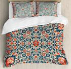 Retro Modern Duvet Cover Set Twin Queen King Sizes with Pillow Shams image