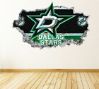 Dallas Stars Wall Art Decal Hockey Team 3D Smashed Wall Decor WL53 $48.95 USD on eBay