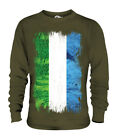 SIERRA LEONE GRUNGE FLAG UNISEX SWEATER TOP LEONEAN SHIRT FOOTBALL JERSEY GIFT