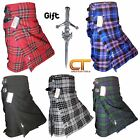 CT Men's Scottish Traditional Kilts, 5 Yard, 13oz, Various Tartan with FREE PIN