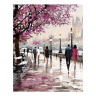 Modern Cherry Blossom Tree Picture Wall Art Canvas Oil Painting Bedroom Decor US