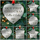 1st First Christmas COUPLE PERSONALISED Xmas Christmas Tree Bauble Decorations