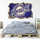 Milwaukee Brewers Wall Art Decal MLB Baseball Team 3D Smashed Wall Decor WL67 on Ebay