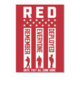 Gunshowtees Mens Red Friday Remember Ev Everyone Deployed Sticker - Portrait