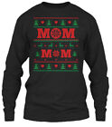 Mom Ugly Christmas Sweater Gildan Long Sleeve Tee T-Shirt