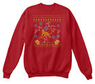 Great gift Monkey Christmas Ugly Sweater Design Hanes Unisex Crewneck Sweatshirt