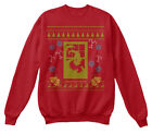 Scary Christmas Ugly Sweater Design Hanes Unisex Crewneck Sweatshirt