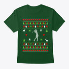 Golf Ugly Christmas Sweater For Womens Hanes Tagless Tee T-Shirt