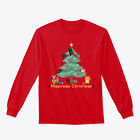 Meeowee Xmas Tree Christmas Ugly Sweater Gildan Long Sleeve Tee T-Shirt