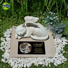 Memorial Cat Angel Figurine Statue. With Without Personalised Plaque + Free Gift