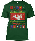 Horn Ugly Christmas Sweater Hanes Tagless Tee T-Shirt