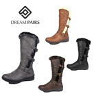DREAM PAIRS Women Warm Winter Fur Lined Zipper Snow Knee High Boots Wide-Calf