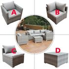 Outdoor Patio Garden Rattan Wicker Sofa Combination Cushioned Pe Set Furniture