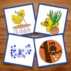 Bird's Eye View - 21 Machine Embroidery Designs, Chick, Duck, Rooster, Owl