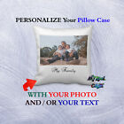 Personalized Pillow Case Cover customized with Your Photo Image - Christmas Gift image