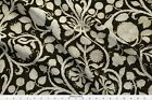Damask French Floral Charcoal Fabric Printed by Spoonflower BTY