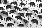Bear Geometric Geo Black And White Fabric Printed By Spoonflower BTY