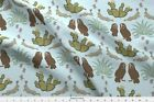 Southwestern desert damask aloe blue Fabric Printed by Spoonflower BTY