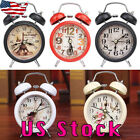 Portable Mini Travel Alarm Clock Round Number Desk Bed Clocks Kids Bedroom USA