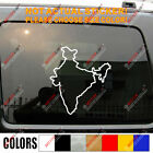 Republic of India Country Map outline Decal Sticker Car Vinyl Indian