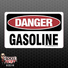 Danger Gasoline Sticker - Osha Safety Vinyl Decal Sign Warning Caution Fe113