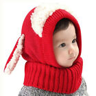 UK Kids Winter Beanie Warm Hat Hooded Scarf Earflap Knitted Baby Toddler Cap