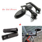 """For Yamaha YZF R1 R6 Black Motorcycle Rearview Mirrors Hand Grips 7/8"""" Universal"""