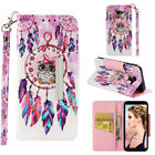 For Samsung J3 J4 J5 J6 Painted Leather Stand Card Wallet With Strap Case Cover