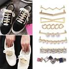 Creative Shoelaces Clips Decor Charms Faux Pearl Rhinestone Shoes Accessories