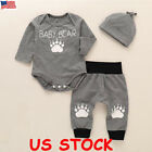 Kyпить Cute Newborn Baby Boy Girl Clothes Jumpsuit Romper Bodysuit + Pants +Hat Outfit на еВаy.соm