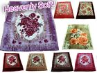 Solaron Korean Mink Blanket Heavenly Soft Double Reversible Heavy Floral Bedding image