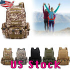 55L Outdoor Military Tactical Camouflage Bag Camping Hiking Trekking Backpack US