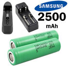 USA Samsung INR 18650 25R 2500mAh Battery for SMOK Vape Mods Charger Optional