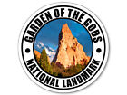 4x4 inch Round GARDEN of the GODS National Landmark Sticker - co colorado rv