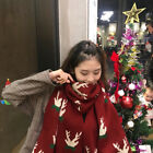 Women's fashion winter warm Christmas small deer knitted scarf KREDT95306#