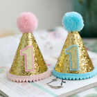 Pet Dog Cat Sequins Flashing Birthday Hat With Cute Hairball Headwear Accessory