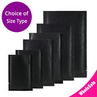 Assorted Sizes Matte Black Thick Rice Paper Foil Mylar Open Top Pouch Bag M23