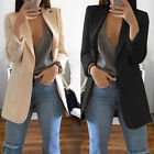 Hot Women Casual Mid Long Trench Coat Fashion Lapel Slim Cardigan Outdoor Jacket