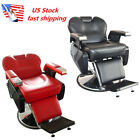 US Professional Deluxe Recline Barber Chair Salon Beauty Shampoo Hair Equipment