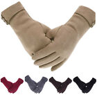 Winter Warm Thick Soft Cashmere Touch Screen Fleece Gloves For Women Lady