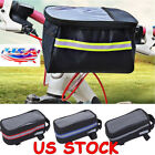 1pc Cycling Bicycle Front Tube Frame Bag Touch Phone Holder Pouch Bike Accessory
